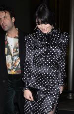 Daisy Lowe Outside St Martins Lane Hotel in London