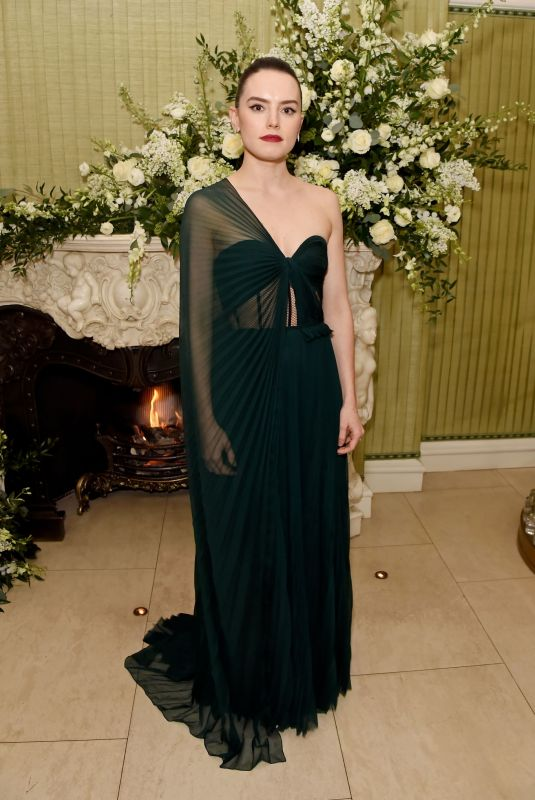 Daisy Ridley At British Vogue and Tiffany & Co. Fashion and Film party in London