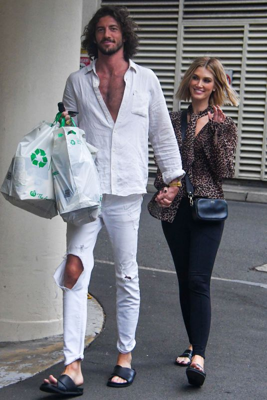 Delta Goodrem Looks very much in love with her boyfriend Matthew Copley as they pick up groceries in Sydney