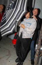 Demi Lovato Leaves after an evening church service in Los Angeles