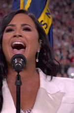 Demi Lovato Sings the U.S. national anthem Super Bowl LIV - Kansas City Chiefs v San Francisco 49ers, Miami
