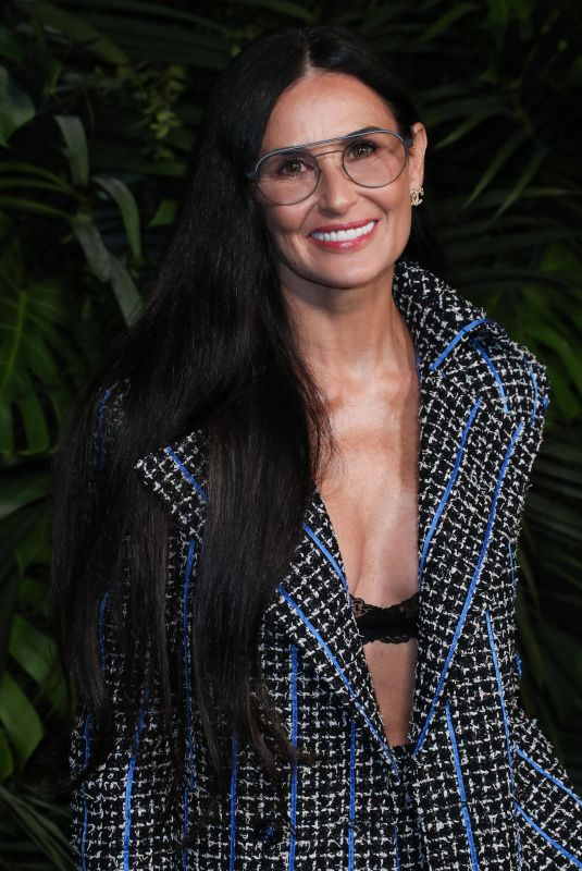 Demi Moore At Charles Finch and Chanel Pre-Oscars Dinner, Arrivals, Polo Lounge, Los Angeles