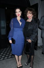 Dita Von Teese and Joan Collins have dinner at Craig