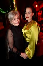 Dita Von Teese At Ozzy Osbourne Global Tattoo and Album Listening Party, Los Angeles
