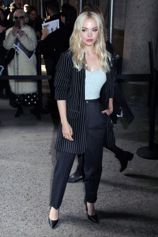 Dove Cameron Arrives at the Michael Kors show in New York