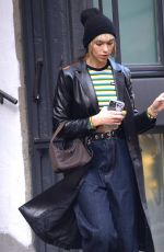Dua Lipa Coming out from her apartment in New York City