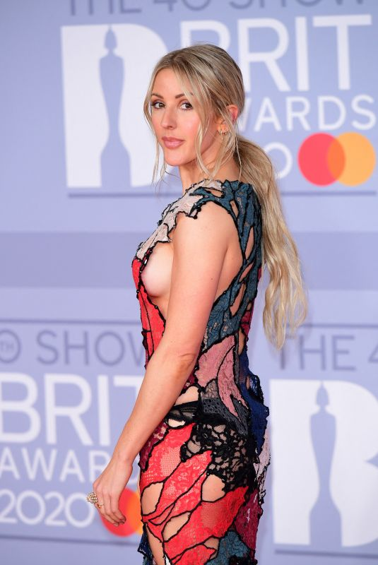 Ellie Goulding Arriving at the Brit Awards 2020 held at the O2 Arena, London