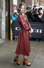 Ellie Thumann Attends Coach during New York Fashion Week in New York City