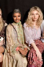 Elsa Hosk In the front row Etro show, Front Row, Fall Winter 2020, Milan Fashion Week, Italy