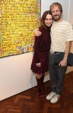 Emilia Clarke At Gommie Exhibition At Messums London