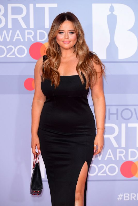 Emily Atack Arriving at the Brit Awards 2020 held at the O2 Arena, London