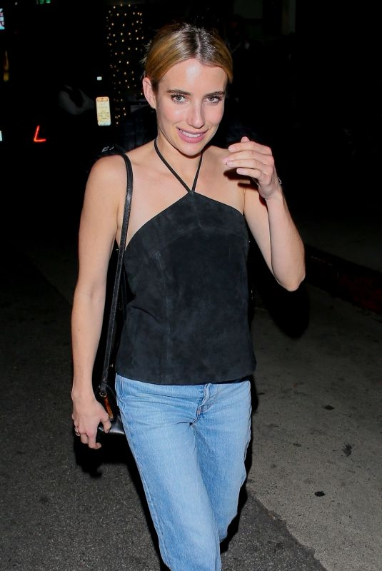 Emma Roberts Outside Madeo in Beverly Hills