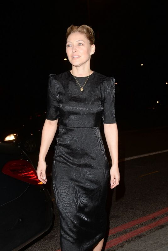 Emma Willis Arriving at the Broadcast Awards, held at The Grosvenor Hotel, London