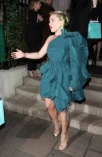 Florence Pugh Seen arriving at the Vogue x Tiffany Fashion & Film after party in London
