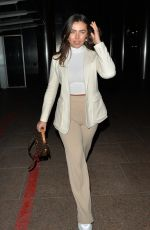 Francesca Allen Leaving the Ivy Canary Wharf