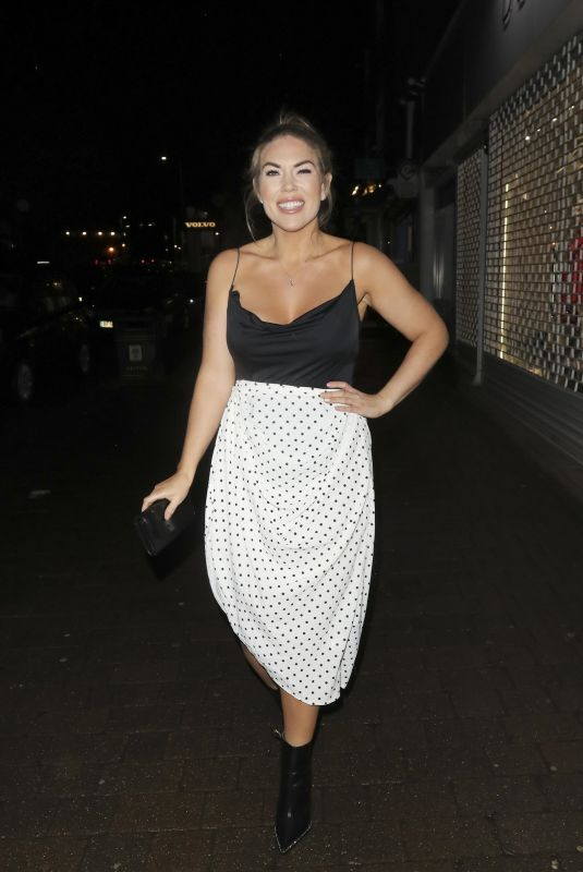Frankie Essex Leaving The Saint Valentine Event at the Kings Oak in Loughton Essex