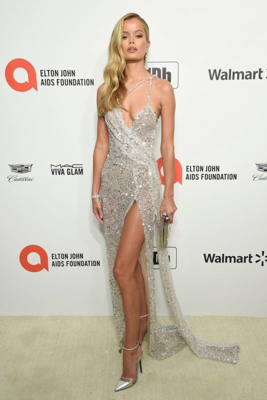 Frida Aasen At Elton John AIDS Foundation Oscar Viewing Party in West Hollywood