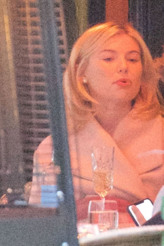 Georgia Toffolo Looked in high spirits with a mystery man at the bar restaurant Motcombs in London