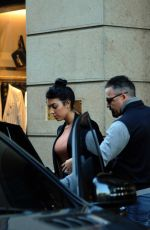 Georgina Rodriguez and son shopping in the center with bodyguard