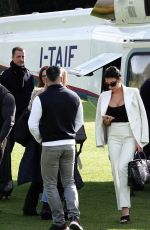 Georgina Rodriguez Arrives in style by helicopter at the Sanremo Festival