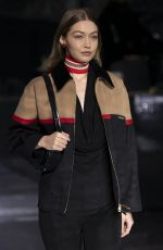 Gigi Hadid At Burberry Autumn/Winter 2020 Show at London Fashion Week