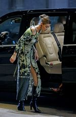 Gigi Hadid Heading to the Versace after party during the Milan Fashion Week in Milan, Italy