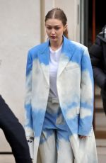 Gigi Hadid Leaving the LVMH offices in Paris