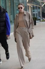 Gigi Hadid Pictured while arriving in Milan to attend fashion week