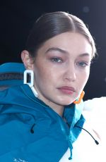 Gigi Hadid Walks the runway during the Off-White show as part of the Paris Fashion Week Fall/Winter 2020/2021