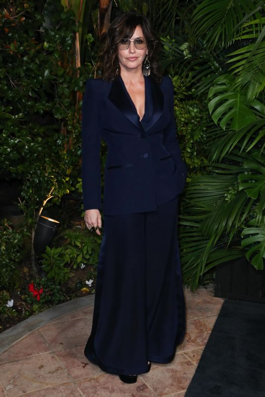 Gina Gershon At Charles Finch and Chanel Pre-Oscars Dinner, Arrivals, Polo Lounge, Los Angeles