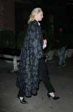 Gwendoline Christie Look elegant in and all black ensemble while leaving her hotel in New York City