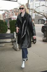 Gwendoline Christie Looks stylish in a leather coat while out in NYC