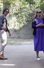 Gwyneth Paltrow and husband Brad Falchuk are seen leaving a Pre-Oscar house party in Beverly Hills