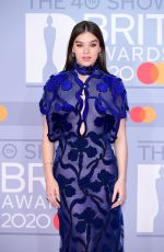Hailee Steinfeld Arriving at the Brit Awards 2020 held at the O2 Arena, London