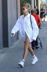 Hailey Bieber Arriving at a spa in West Hollywood