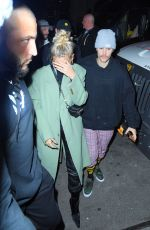 Hailey Bieber & Justin Bieber Arrive at STK for the SNL after-party in New York