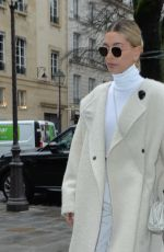 Hailey Bieber Leaves her hotel in Paris, France