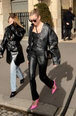 Hailey Bieber On her way to the Dior Fashion Show in Paris