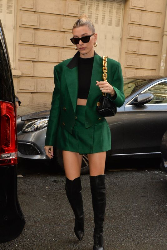 Hailey Bieber Seen out & about in Paris, France
