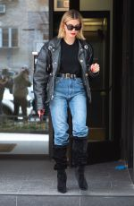 Hailey Bieber Steps out in Brooklyn