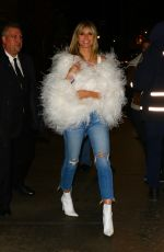 Heidi Klum Heads to a party after the amfAR Gala in New York