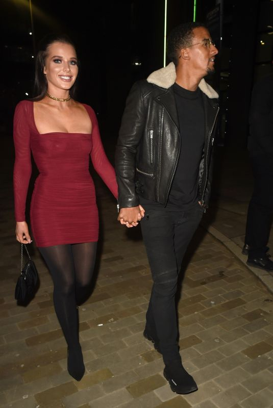 Helen Flanagan Out with her husband at Menagerie Restaurant