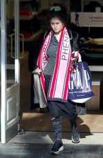 Helena Bonham Carter spotted shopping and wrapped up well from the cold in her usual quirky attire