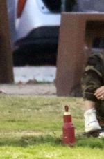 Hilary Duff At her sons football game in LA