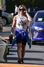 Hilary Duff Going to the gym in Studio City