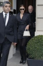 Irina Shayk Leaves her hotel in Paris, France
