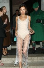 Irina Shayk Leaving Annabels After The British Vogue and Tiffany & Co Party in London