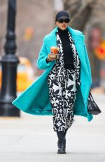 Irina Shayk Spotted carrying her beverages after visiting Joe & The Juice in the west village in New York City