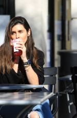 Jamie-Lynn Sigler Was recently spotted grabbing a drink at her local Starbucks near her home in Sherman Oaks
