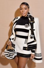 Janelle Monae At Balmain show, Front Row, Fall Winter 2020, Paris Fashion Week, France